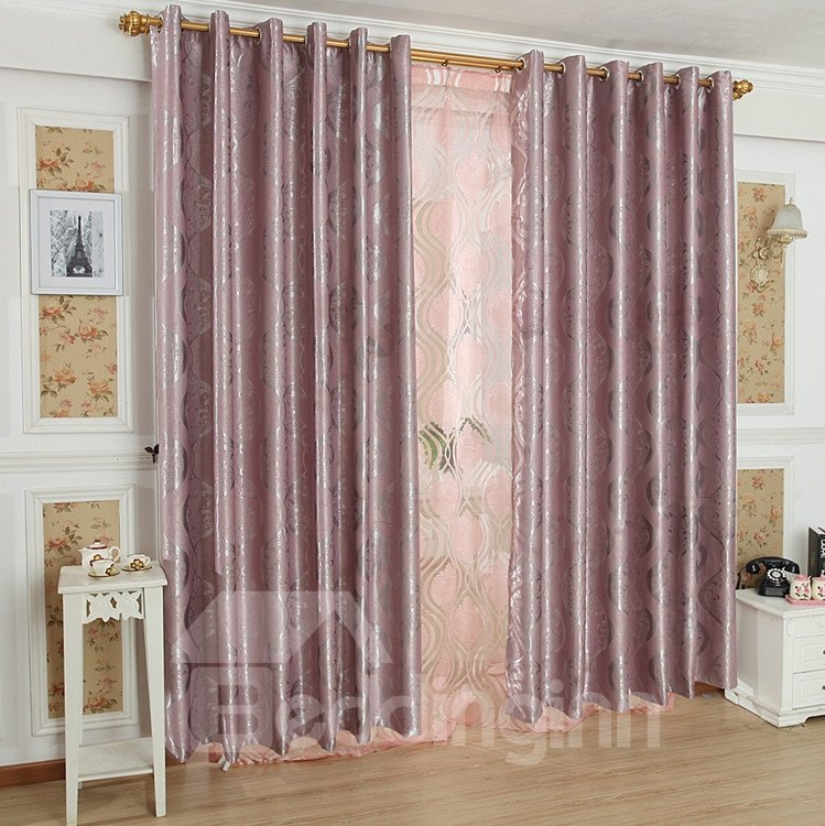 Fabulous Contemporary Beautiful Pattern Grommet Top Custom Curtain