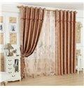 Glamorous Contemporary Beautiful Pattern Grommet Top Custom Curtain