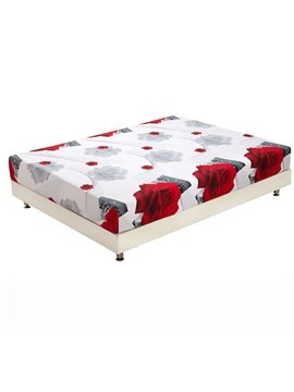 New Arrival Fancy Romantic Red Roses Print 3D Fitted Sheet