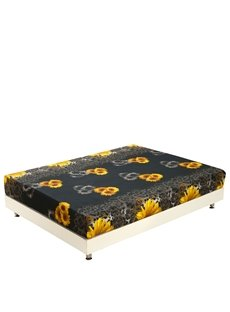 New Arrival Amazing Yellow Sunflowers Print 3D Fitted Sheet