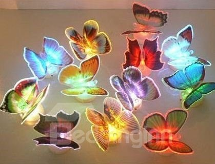 Hot Selling Amazing Creative Led Butterfly Sticky Ten