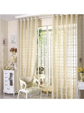 Contemporary Concise Exquisite Custom Sheer Curtain