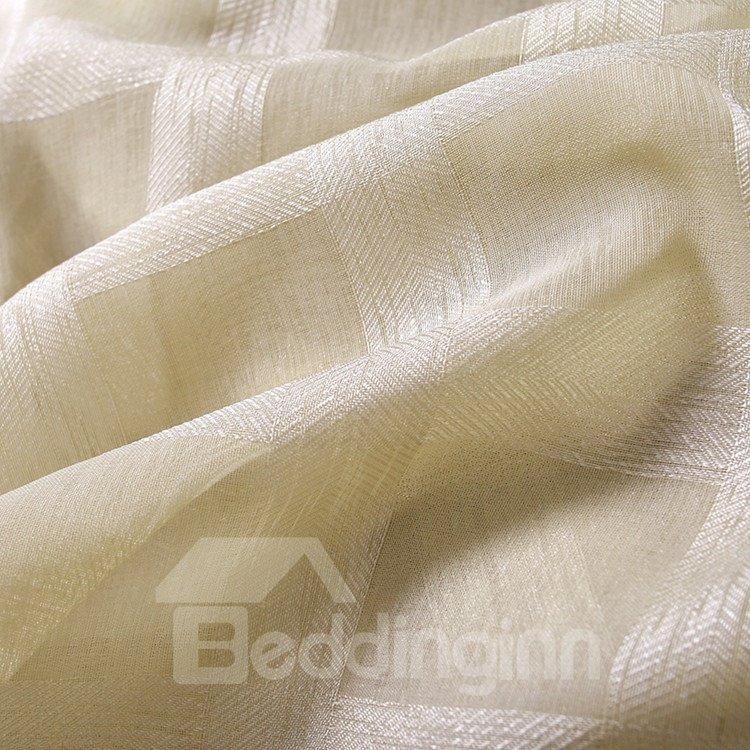 Contemporary Concise Exquisite Custom Sheer Curtain