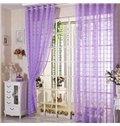 Elegant Contemporary Light Purple Custom Sheer Curtain
