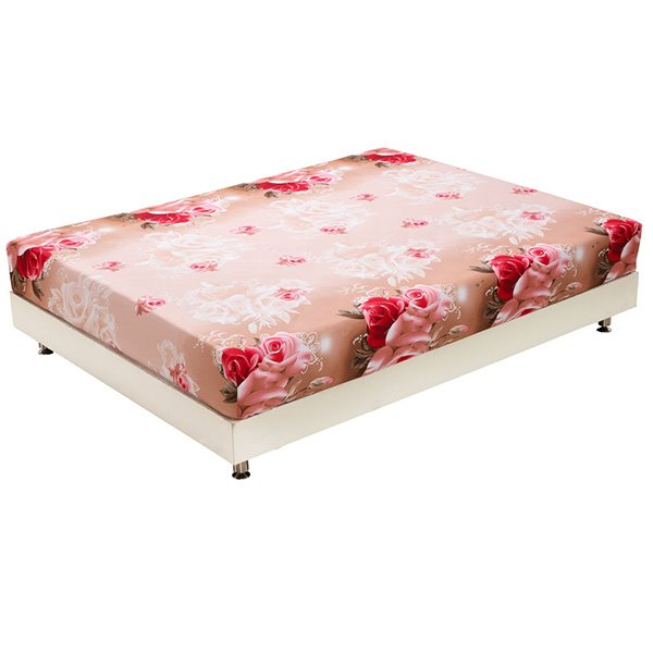 New Arrival Fantastic Red and Pink Roses Print 3D Fitted Sheet