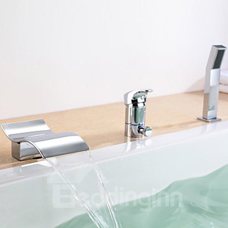 High Quality Widespread Waterfall Bathtub Faucet