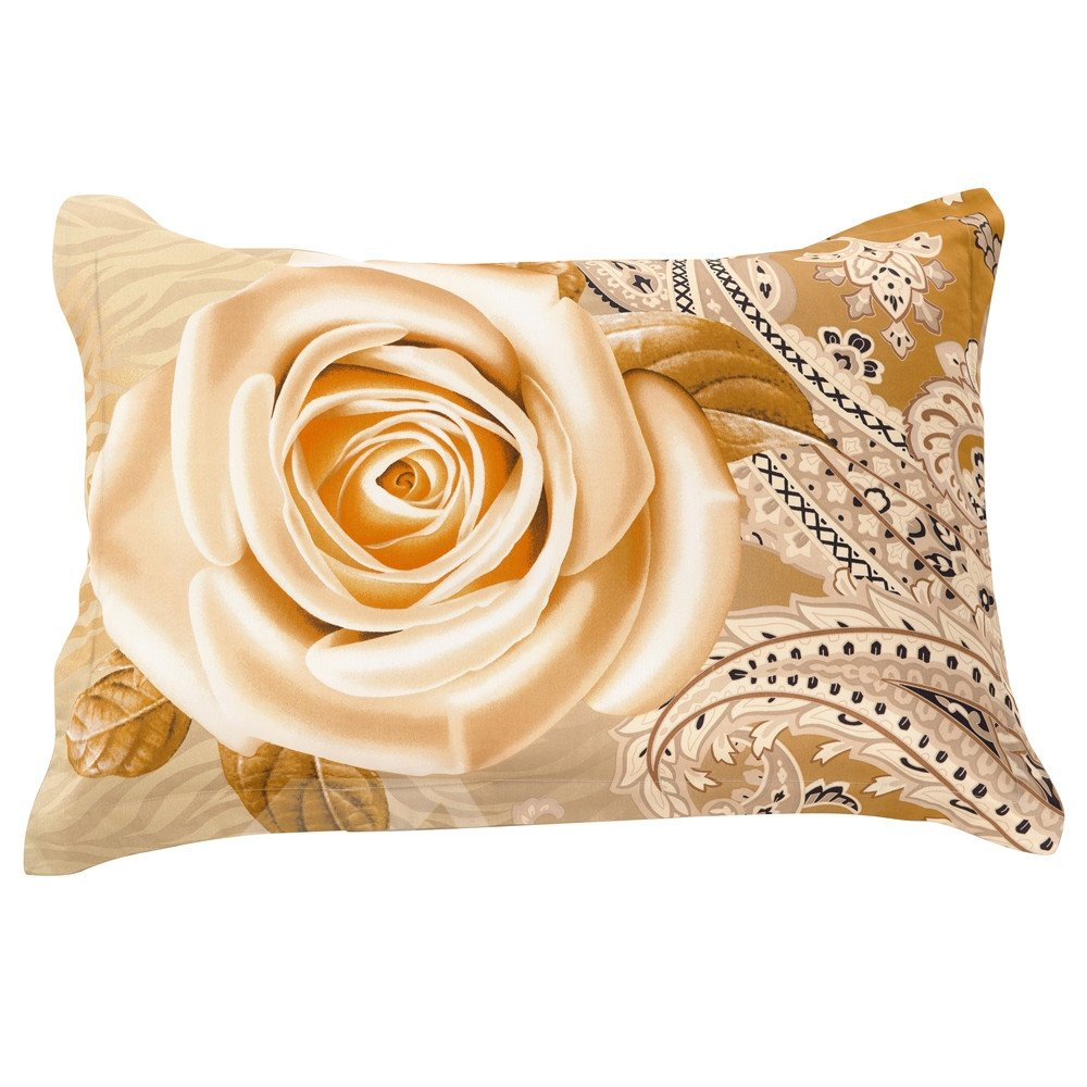 New Arrival Retro Delicate Roses Print Two Pieces Pillow Case