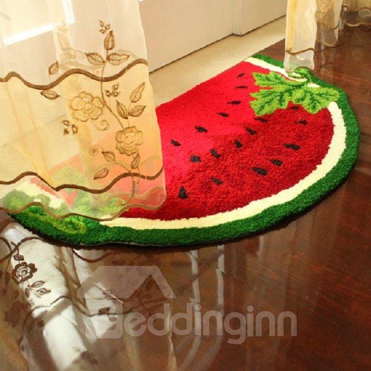 New Arrival Creative Cute Watermelon Design Floor Mat