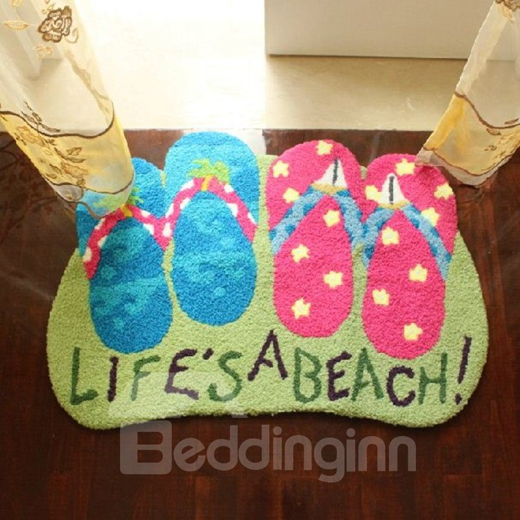 New Arrival Creative Lovely Slippers Design Floor Mat
