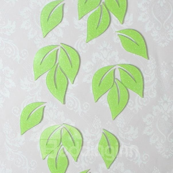 Elegant Shining Powder Leave 6-pieces Wall Stickers