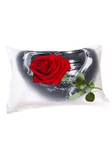 Amazing Fragrant Big Red Roses Print Pillow Case