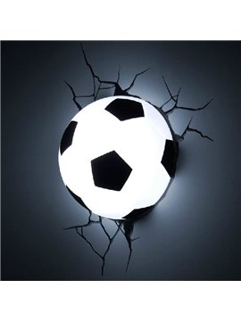 Amazing Creative 3D Football Design Wall Light