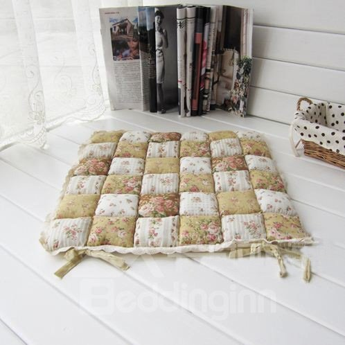 Amazing Pastoral Style Delicate Flowers Print Car Seat Cushion