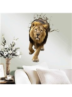 New Arrival Amazing 3D Lion Pattern Wall Sticker