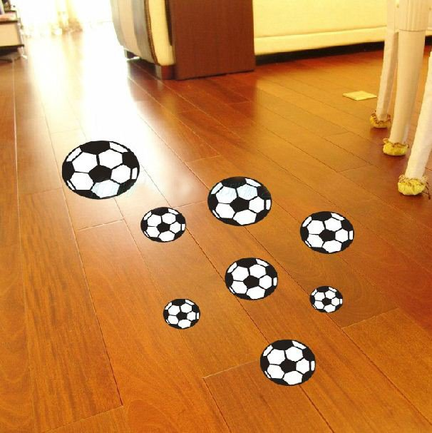 New Arrival Fabulous Football Patterns Floor Stickers or Wall Stickers