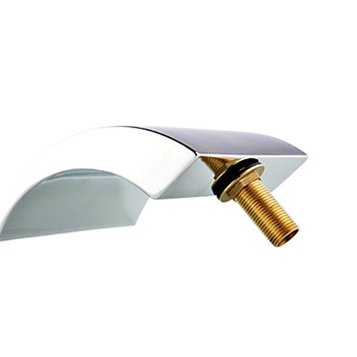 Chrome Two Handles Waterfall Widespread Bathtub Faucet
