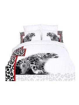 Modern Vivid Leopard Print 4-Piece Duvet Cover Sets