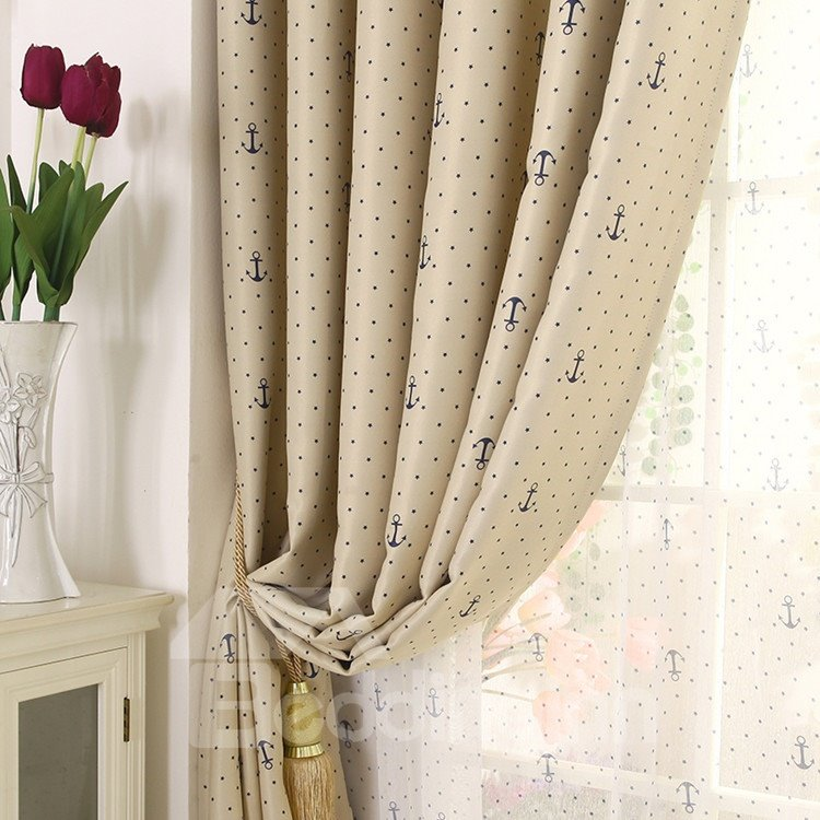 Contemporary Elegant Beautiful Patterns Grommet Top Custom Curtain