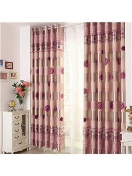 Elegant Burgundy Beautiful Pattern Grommet Top Custom Curtain