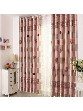 Elegant Circle Patterns Grommet Top Custom Curtain