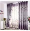 High Quality Beautiful Floral Pattern Gromment Top Curtain