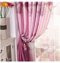 Beautiful Elegant Pink Tree Printing Grommet Top Custom Curtain