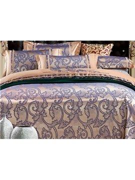 Distinctive Applique Style 100% Cotton 4-Piece Duvet Cover Sets