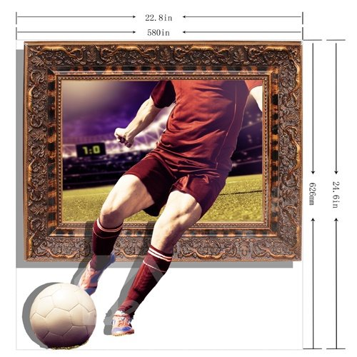 New Arrival Amazing 3D Sporter Playing Football Wall Sticker