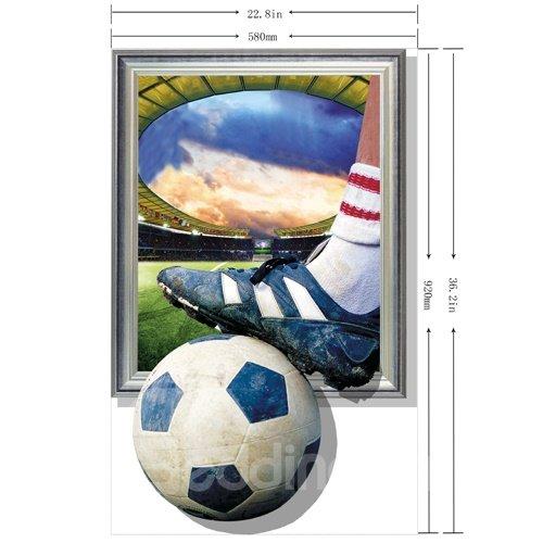 New Arrival Elegant 3D Football Wall Sticker
