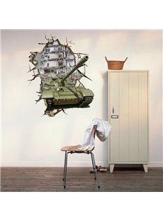 New Arrival Amazing 3D Tanks Wall Sticker