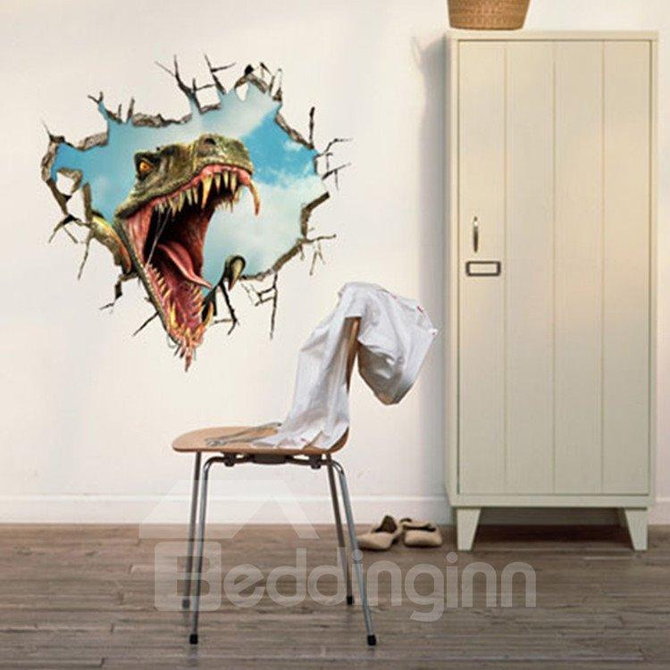 New Arrival Stunning 3D Dinosaur Mouth Wall Sticker