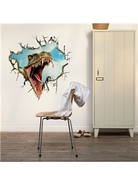 New Arrival Stunning 3D Dinosaur Mouth Wall Sticker