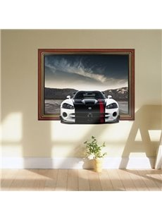 Stunning 3D Sports Car Pattern Wall Sticker
