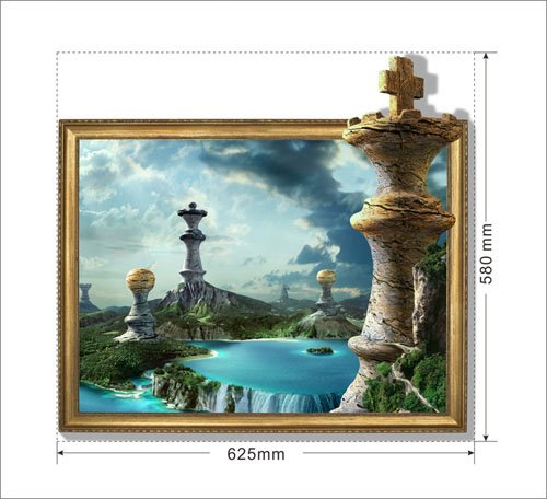 New Arrival Amazing 3D Chess Wall Sticker