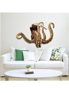 New Arrival Amazing 3D Octopus Wall Sticker