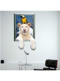 New Arrival Amazing 3D Polar Bear Wall Sticker