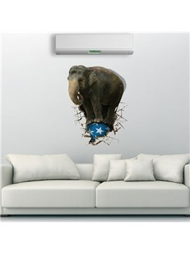 New Arrival Amazing 3D Elephant Wall Sticker