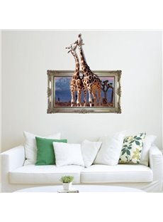 New Arrival Elegant 3D Giraffe Wall Sticker