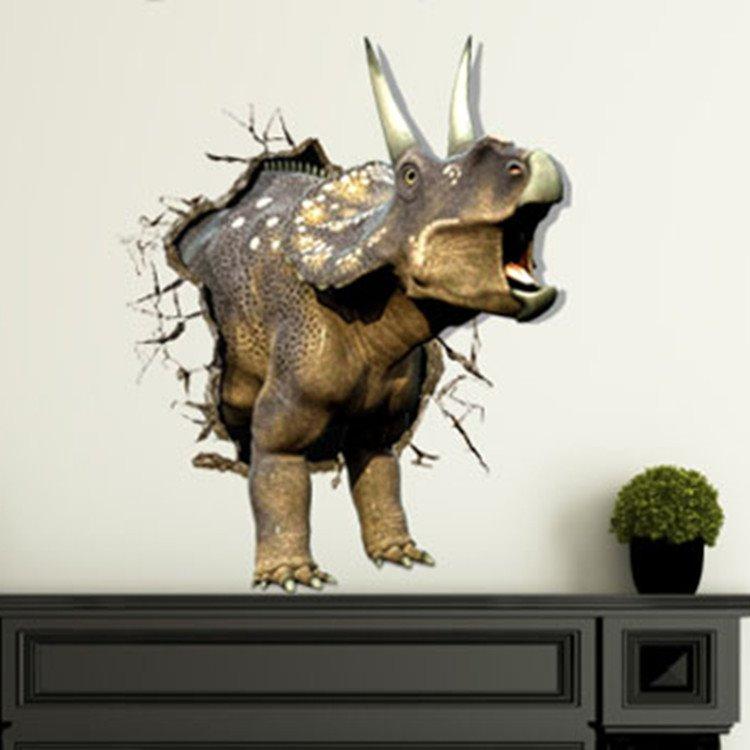 New Arrival Stunning 3D Rhinoceros Wall Sticker