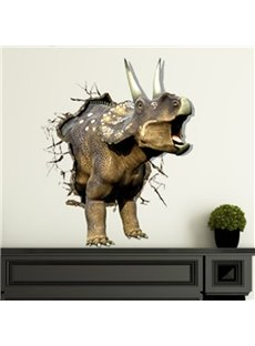 New Arrival Stunning 3D Rhinoceros Wall Sticker