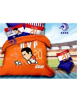 Dramatic 2014 World Cup Goal Print 4-Piece Duvet Cover Sets