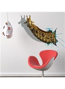 Stunning Creative Giraffe Head Print 3D Wall Sticker