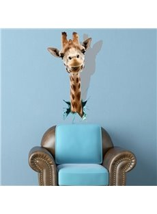 Lovely 3D Giraffe Pattern Decorative Wall Sticker