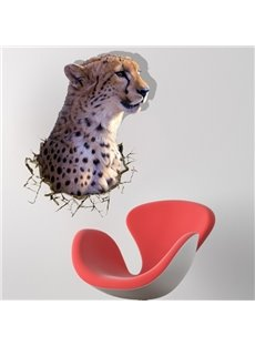 New Style Amazing Creative 3D Leopard Wall Sticker