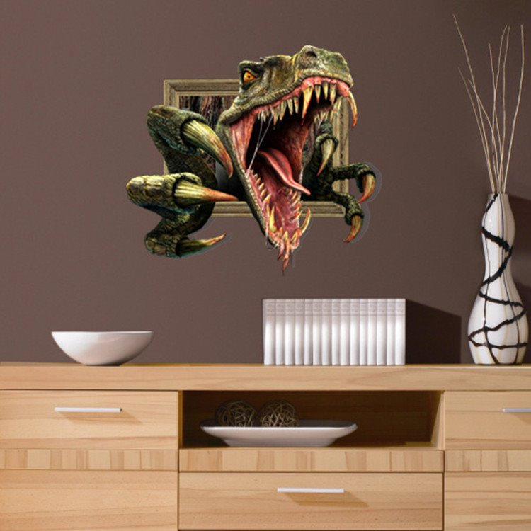 Stunning 3D Dinosaur Pattern Wall Sticker