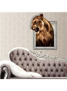Stunning Creative 3D Liger Animal Wall Sticker