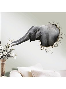 Amazing Creative Elephant Pattern 3D Wall Sticker