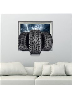 New Arrival Amazing 3D Tires Wall Sticker