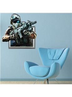 Amazing Creative 3D Police Wall Sticker