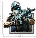 Amazing Creative 3D Policeman Wall Sticker